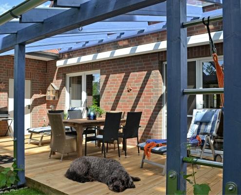 oldenburg – terrassenüberdachung holzrahmen aus brettschichtholz fichte