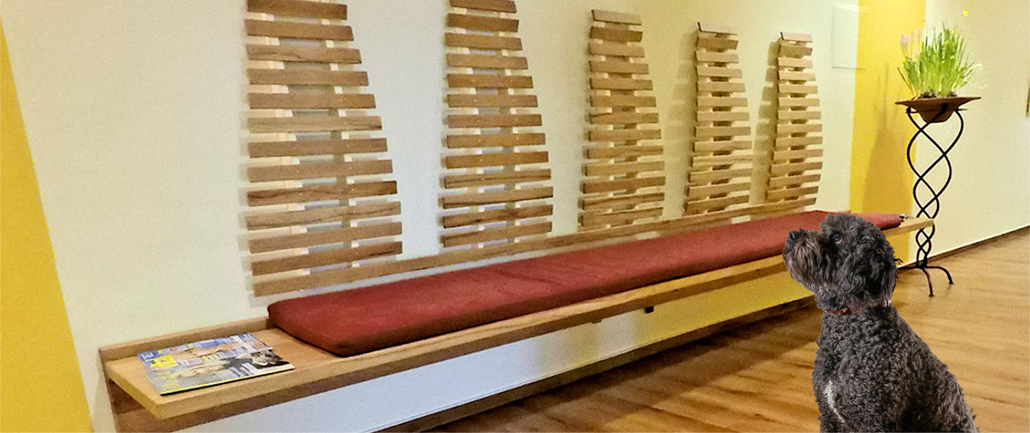rinteln arztpraxis wartebereich – wandhängende bank