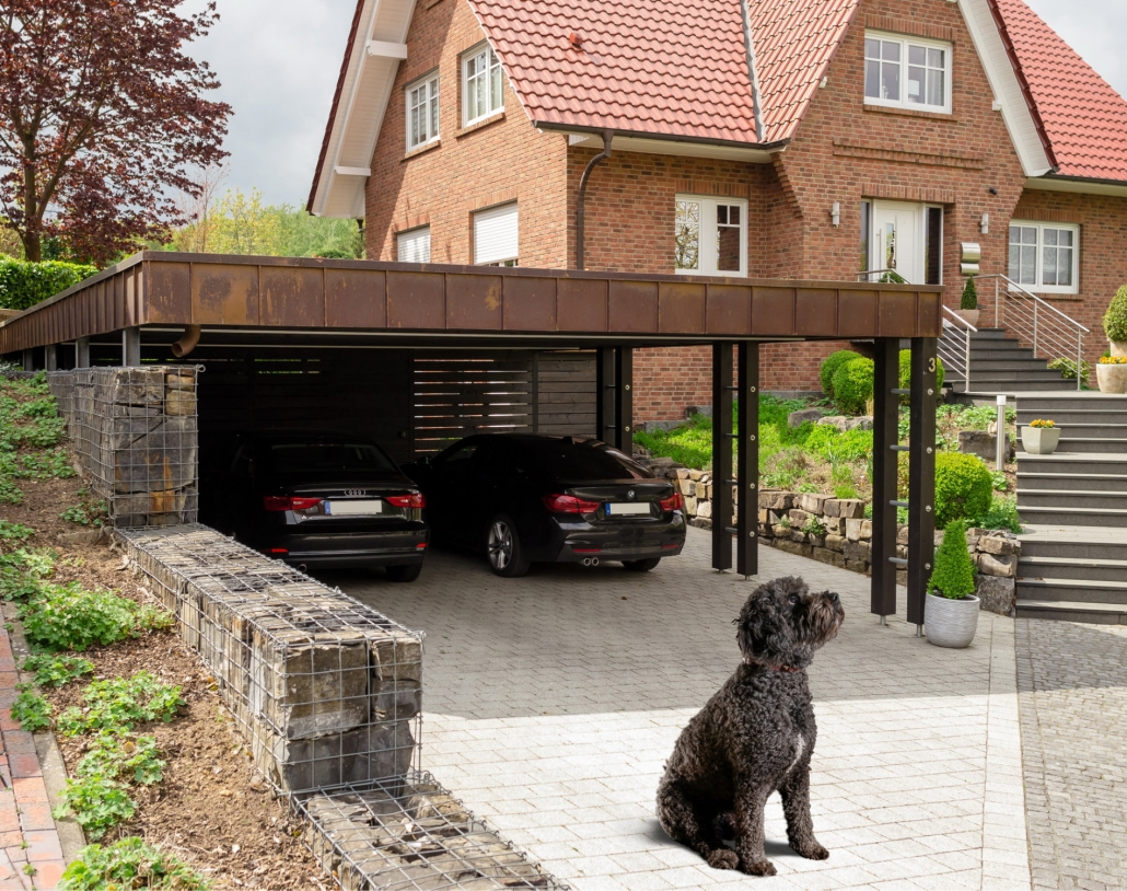 rinteln - doppel-carport mit geräteraum